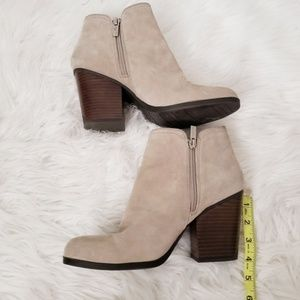 Kenneth Cole Reaction Shoes - Kenneth Cole Reaction Taupe Suede Leather Booties